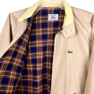 Izod Lacoste Golf Jacket Windbreaker Khaki Zip L